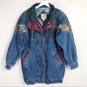 Vintage 90s Current Seen Womens Denim Jacket